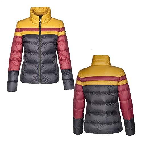 Equiline Damen Daunenjacke CLOE, extrem leichte Damenjacke, schwarz Größe XL