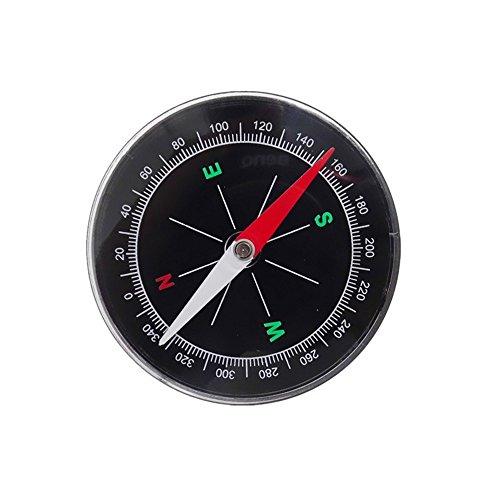 JISHUQICHEFUWU Auto Kompass/Automotive Kompass/Auto Guide Ball/Auto-Ride Auto Zubehör, Silber -