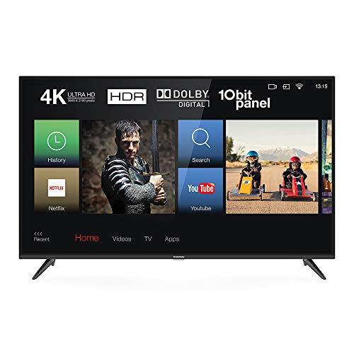 Thomson 43UD6326 Fernseher 103 cm (43 Zoll) Smart TV (4K UHD, HDR, Dolby Digital Plus, T-Cast, Triple Tuner) Schwarz Digital Dolby Digital-tv