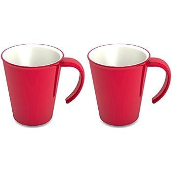 stabil NEU THERMO-BECHER Kaffee-Tasse Coffee to go rot 400ml hitzbeständig