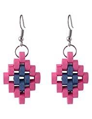 Trinkets AND Treasures Blue And Pink Dangle And Drop Earring