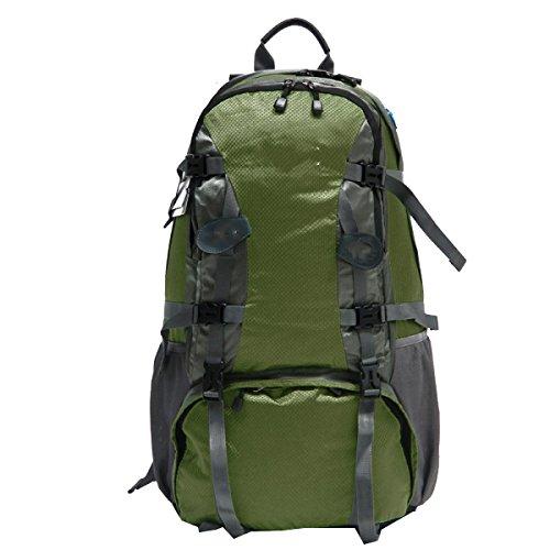 Yy.f50 L Sport All'aperto Escursionismo Arrampicata Su Roccia Zaino Da Campeggio Borsa Per Alpinismo Professionale Impermeabile Grande Zainetto Da Escursione ArmyGreen