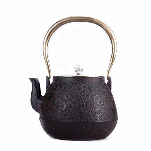 Giappone Cast Iron Pot Piccola Tre gru del modello di copertura di rame non rivestito a mano 1.3L Tè bollito