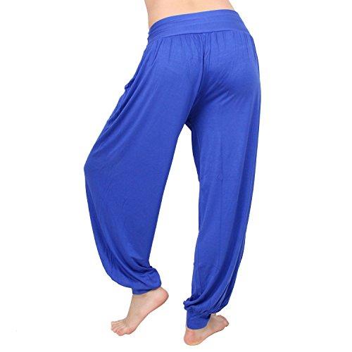 MLAN - Pantalon -  Femme bleu roi