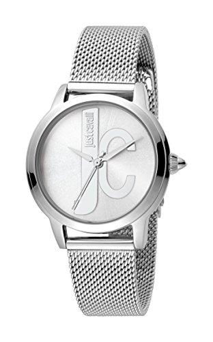 Just Cavalli Damen Analog Quarz Uhr mit Edelstahl Armband JC1L050M0065