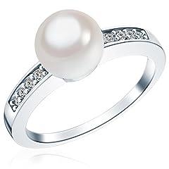 Idea Regalo - Rafaela Donata - Anello con perle d'acqua salata/perle vere - Argento Sterling 925 con zircone - Gioielli da donna - in molti formati, Anello con zircone, Anello in Argento Sterling - 60800076