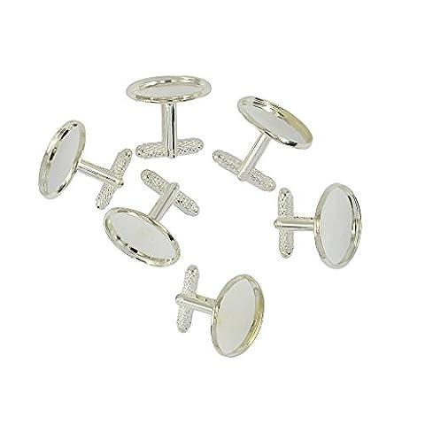 Sharplace 6pcs Rondes Formelle Boutons De Manchette Réglabe Bijoux de Chemise Accessoires De Soirée Fête