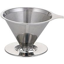 Asentechuk® 1 pcs filtre en acier inoxydable Tasses à café Pots Entonnoir  d égouttement fc52d991fa0