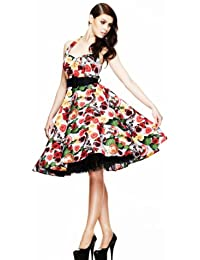 Hell Bunny Kleid MEXICO 50'S DRESS black-multi