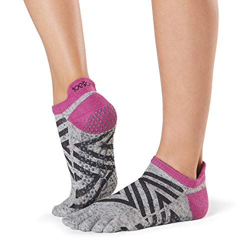 Toesox Damen Women's Low Rise Full Grip Non-Slip for Ballet, Yoga, Pilates, Barre Toe Socks, Ziggy, m
