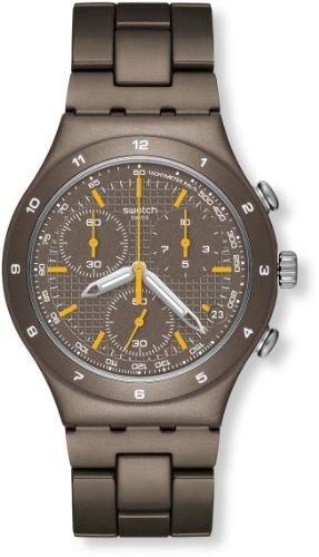 Swatch YCT4000AG - Reloj cronógrafo de cuarzo para mujer, correa de acero inoxidable color marrón