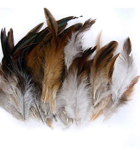 Runfon Natürliche Decoration Rooster Cock Feather - Ideal -