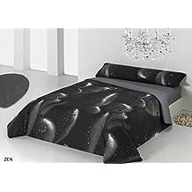 Juego de funda nórdica ZEN para cama de 90 cm - color negro