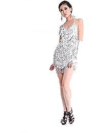 Vestido de lentejuelas Moresave para bailes latinos 71df0e356d5
