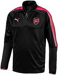 Puma Training Top Arsenal 1/4 Replica 2017-18 Noir Haut Entrainement Club Enfant Football