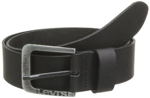 Levi's Herren Gürtel Levis Side Logo Buckle Belt, Schwarz (Black), 100 cm (Herstellergröße: 100)