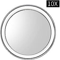uarzt maquillaje vantity espejo, 10x 7x lupa espejo extraíble belleza espejo 4pulgadas redondo maquillaje espejo de maquillaje para baño o dormitorio mesa, 10x