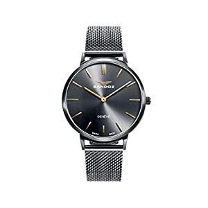 Sandoz – Reloj Acero IP Gun Brazalete Sra Classic & Slim Sa –