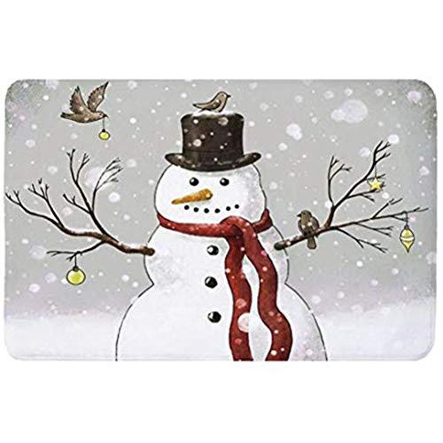 Auplew Alfombra navideña Decoración navideña Puerta