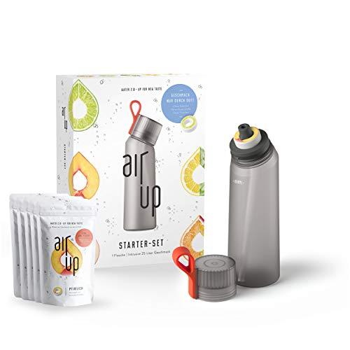 Preisvergleich Produktbild air up Starter-Set (1x BPA freie Trinkflasche 650 ml + 5x Duft-Pods für insgesamt 25 Liter Geschmack in den Geschmacksrichtungen Limette,  Zitrone-Hopfen,  Orange-Maracuja,  Apfel und Pfirsich)