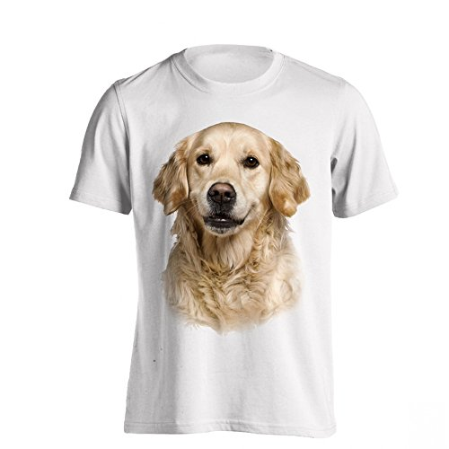 The T-Shirt Factory Herren-T-Shirt Labrador Retriever (XL) (Weiß) (Retriever-herren-shorts)
