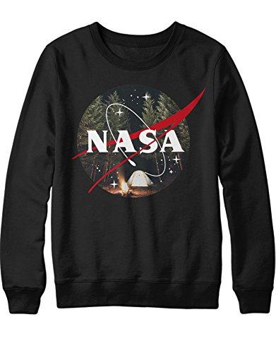 Bad Cosplay Breaking Kostüm - Sweatshirt NASA Logo WILD Camping K123450 Schwarz S