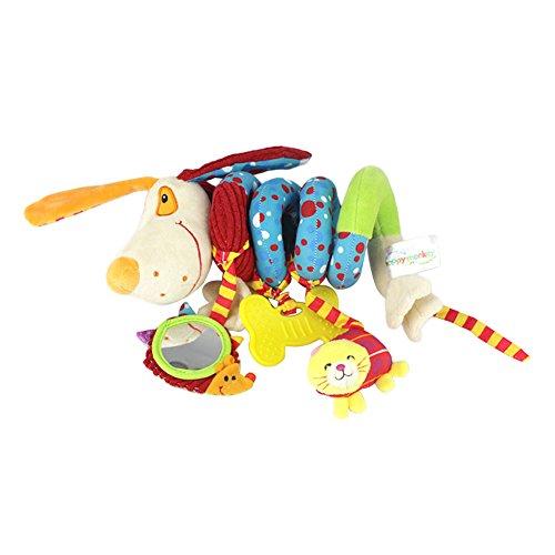 ale Spielzeug für Kinderwagen, Baby Bett Kinderbett Spirale zum Aufhängen Toys Baby Infant Kinderwagen Kinderwagen Kinderbett Arch Plüschtier mit Glöckchen für Baby Bett ()
