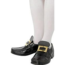 Zapatos con hebilla de metal accesorios calzado medieval traje masculino