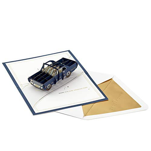 Hallmark Signature Paper Wonder Pop Up Geburtstagskarte (Classic Car, Amazing Ride)