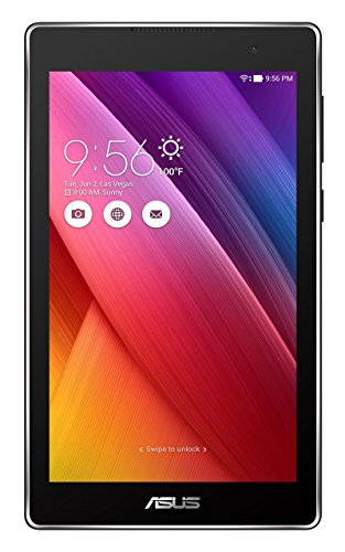 Asus ZenPad Z170CG 17,78 cm (7 Zoll) Tablet-PC (Intel Atom C3230, 2GB RAM, 16GB eMMC, Mali 450 MP4, 3G Android) schwarz