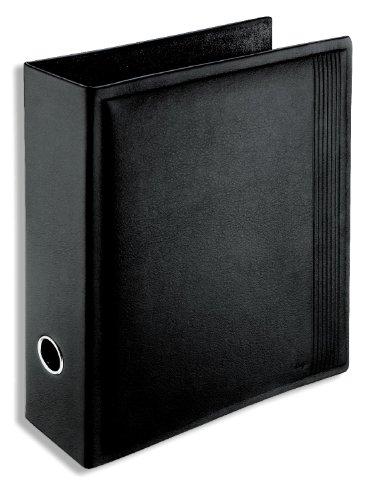 Läufer 34416 - Ambiente LA LINEA Ordner DIN A4, aus echtem Leder, schwarz