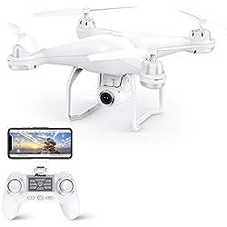 Potensic Drone GPS T25 FPV Hélicoptère Caméra 120° Grand Angle Réglable HD 1080P Télécommande 9-axe Gyro Fonction