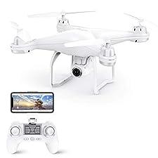 Video-Übertragung in Echtzeit: das Kamera-Feedback der Potensic T25 Dual-GPS RC Quadrocopter ist in Echtzeit auf Ihrem Smartphone sichtbar. Führen Sie die Kamera mit einer einfachen Daumenbewegung in 120° in alle Richtungen.Stabile Struktur 9 Achsen...