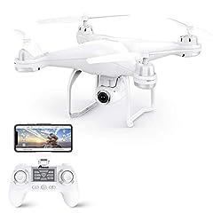 Idea Regalo - Potensic Drone GPS Telecamera 1080P Drone Professionale T25 Dual GPS con Grandangolare Regolabile Camera HD WiFi FPV Quadricottero Funzione Seguimi modalità Senza Testa