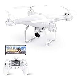Potensic GPS FPV Drohne mit 1080P HD Kamera, RC Quadrocopter, Dual GPS und Follow me Funktion, Live Übertragung mit 120° Weitwinkel, Hochhaltung, Kopflos Modus, Ideal für Änfanger und Kinder T25