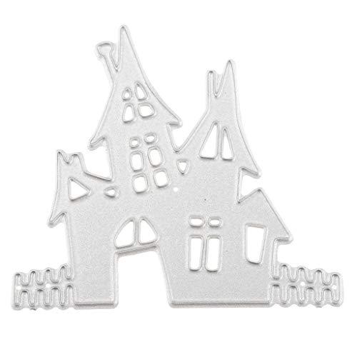 schablonen Scrapbooking Schablone Stanzschablone Prägeschablonen mit Halloween Schloss, DIY für Hochzeitskarten Tagesbuch usw. ()