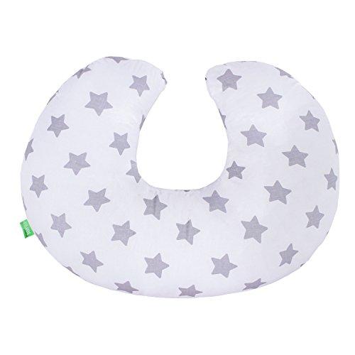LULANDO Stillkissen 55 x 42 cm für Babys und Schwangere, weiches und flexibles Nackenkissen und Lagerungskissen, waschmaschinenfest, 100% Baumwolle, Standard 100 von Öko-Tex, hergestellt in der EU.
