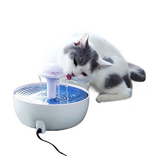 YGJT Distributeur de Nourriture avec Compteur- Alimentation pour Chien/Chat/Croquettes Accesoires Gamelle Animaux Domestiques (Fontaine à Eau)