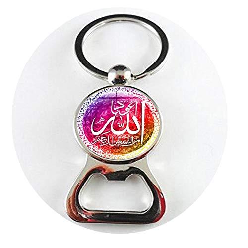 asd Arabische islamische Allah Bless Halskette Muslim Religiöse Schmuck Allah Zeichen Kunst Foto Glas Dome1 Flaschenöffner Literary Schmuck