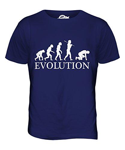 CandyMix Sprinter Sprint Läufer Evolution Des Menschen Herren T Shirt Navy Blau
