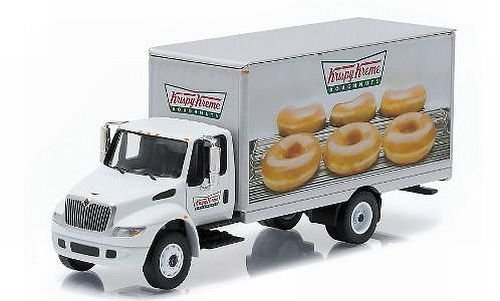 international-durastar-box-van-krispy-kreme-doughnuts-model-car-ready-made-greenlight-164-by-interna