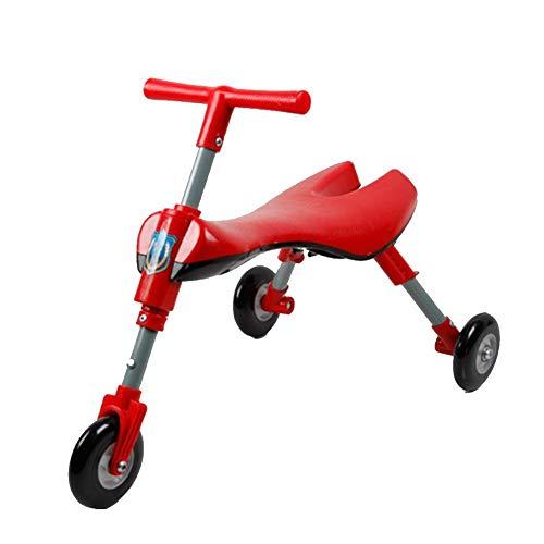 Createjia Höhe 41.5CM / Länge 59CM Faltendes Dreirad Der Kinder, Das Babywanderer-Fahrrad Schiebt