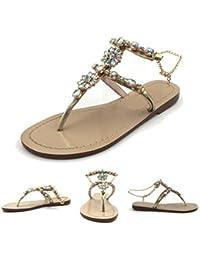 ffda68fe493 Amazon.fr   claquette femme - Or   Chaussures de sport   Chaussures ...