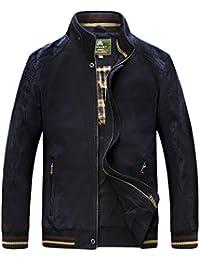 Karmder Plus Size M-5XL Primavera Uomo Alta qualità Casual 100% Cotone  Giacca Kaki 80d8268cdd5
