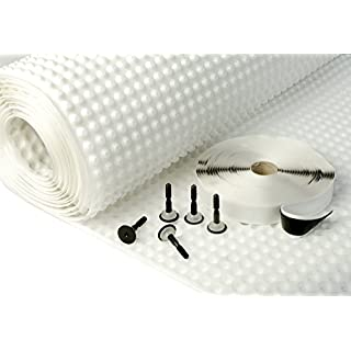 BASEMENT TANKING CAVITY DRAIN MEMBRANE DAMP PROOF KIT 2M X 20M (40M2)