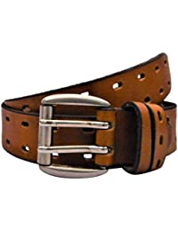 POLO INTL Men's Leather Belt (London Tan, 34 inches)