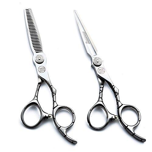 moontay 15,2cm japanischem Edelstahl 440C Remasuri Professionelle Barber Haarschneidescheren und-Effilierschere/Struktur Scheren-Für Friseursalon
