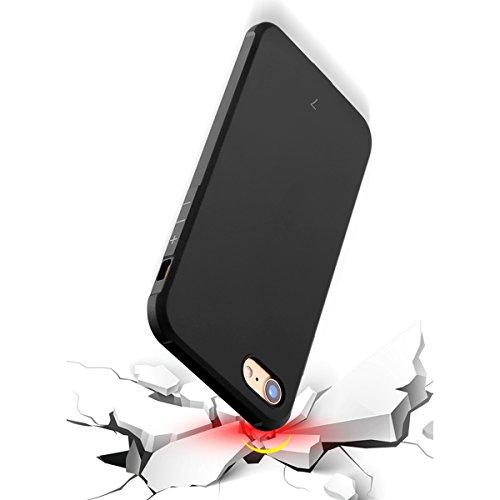 Coque iPhone 7 / iPhone 8 Etui Silicone, Forhouse Souple TPU Housse Slim Anti choc Rubber Case Absorption des chocs Resistant Arrière Smartphone Protective Cover Bumper Edge Protection Couverture Noir Noir