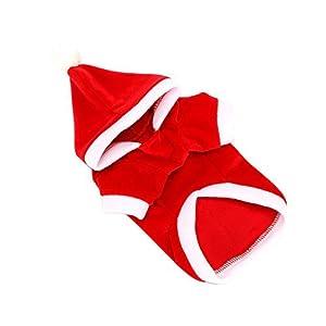 ALIKEEY Chandail à Capuchon De Chiot De Chien De Compagnie De NoëL Chaud VêTx des VêTements De ModèLe d'arbre De NoëL Christmas Pet Dog Puppy Hoodie Sweater Warm Tree Pattern Clothes