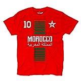 KiarenzaFD Camiseta T-Shirt Hombre Nacional Deporte Morocco Marruecos Maroc 10 Futbol Deporte Africa Stella 1 XL
